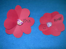Red Paper Flowers Craft
