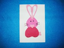 Pink Paper Bunny Card