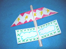 A Summer Glider made from straws and paper