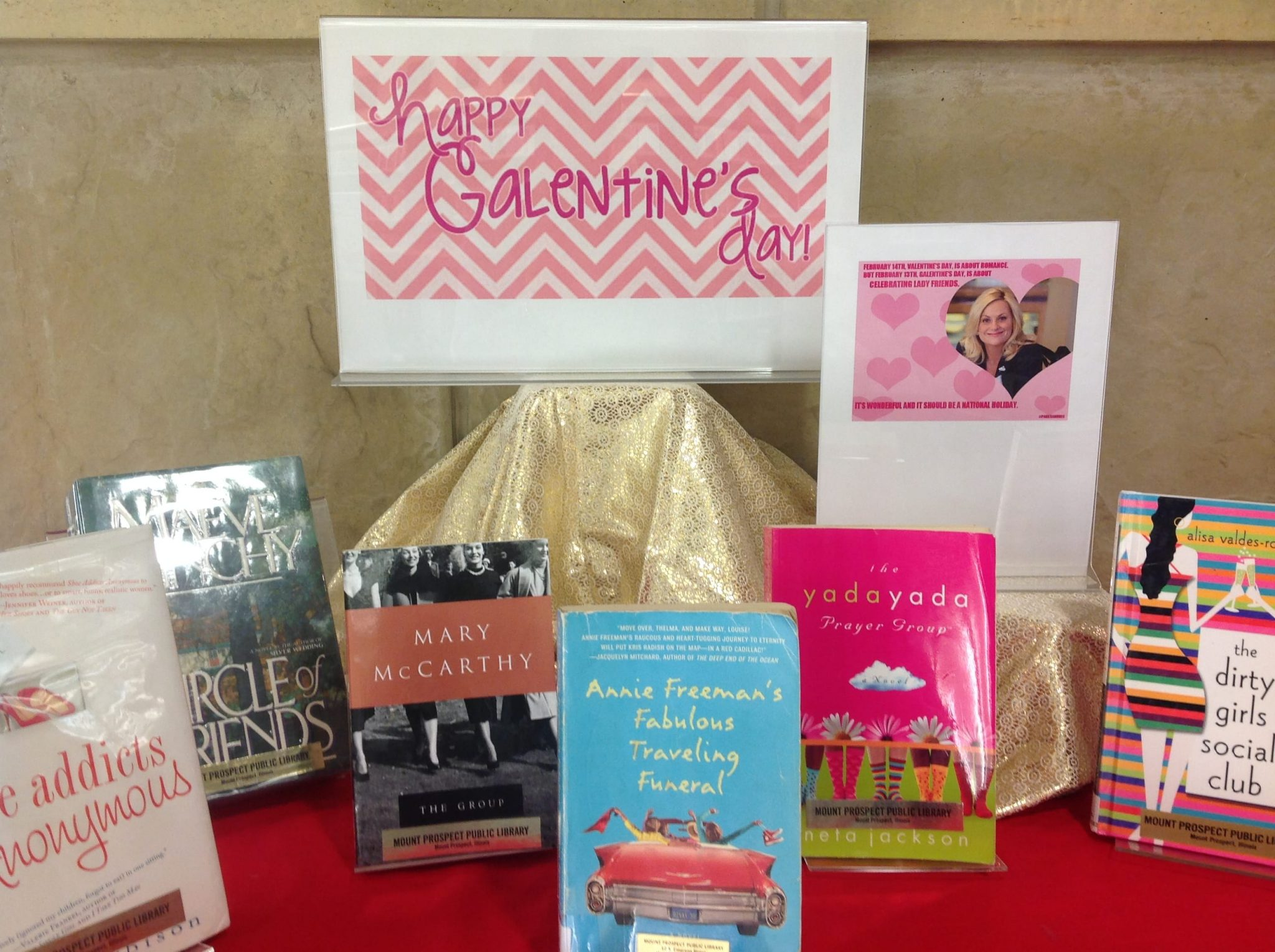 Galentine's Day display