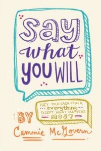 say what you will book cover