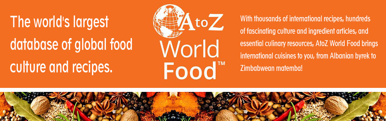 a to z world food web banner