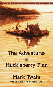 Adventures of Huckleberry Finn book cover