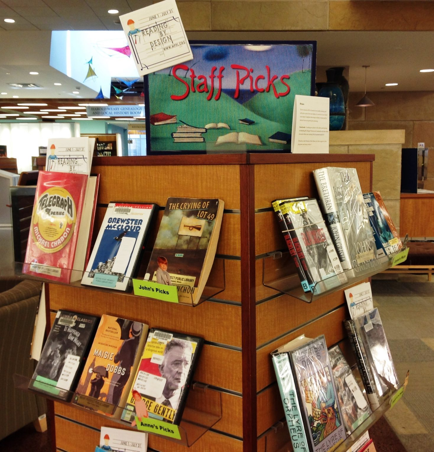 picture of staff pick display