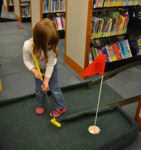 Cautiously putting.
