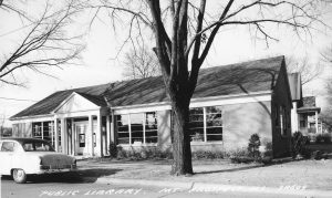 Library building exterior 1950