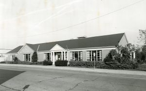 Library building exterior expanded c1962