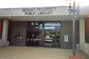 Library front entrance, c1985
