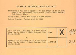Sample ballot for library election 1943