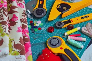 quilting supplies and fabric