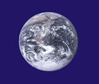 shot of earth from space