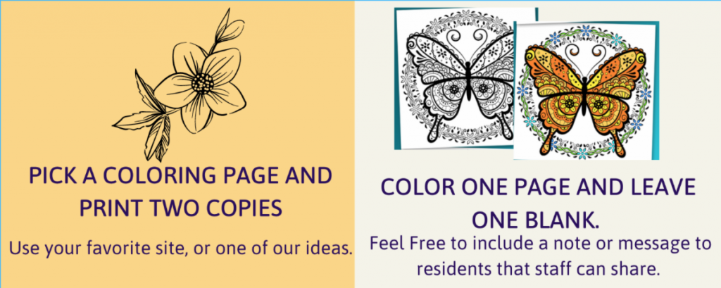 pick a coloring page and print 2 copies, color one page and leave one blank
