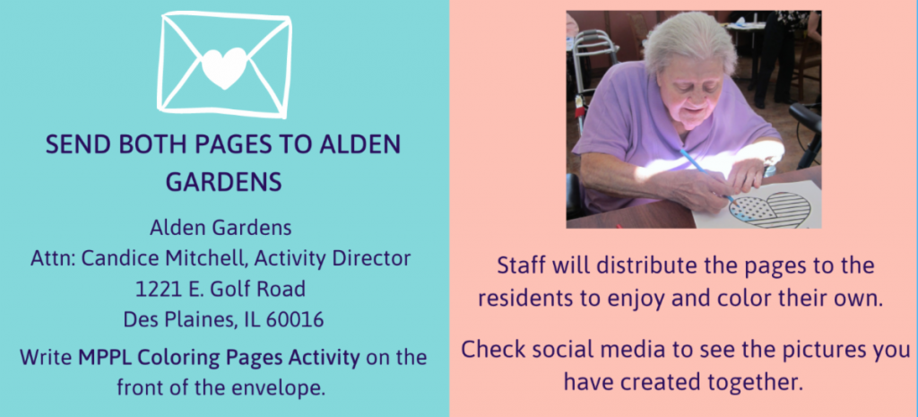 send both pages to alden gardens, staff will distribute the pages to residents to enjoy and color on their own