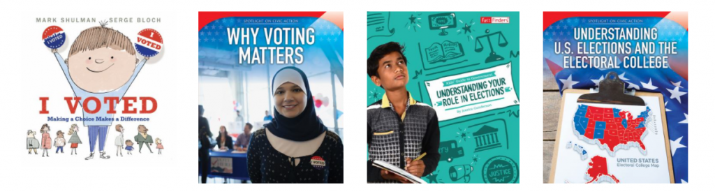 children's voting books collage