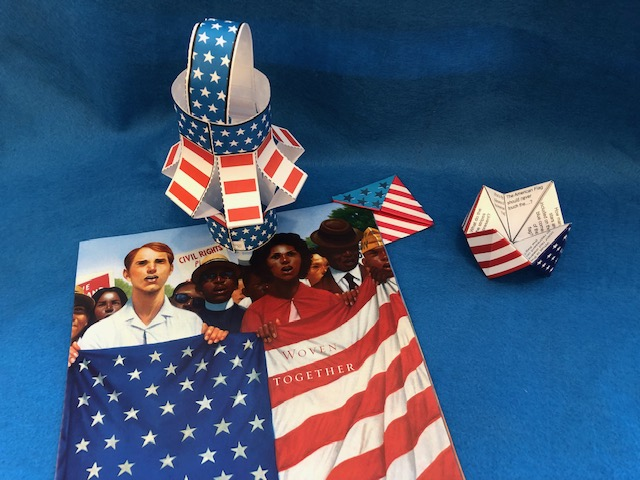 woven together paper lantern craft