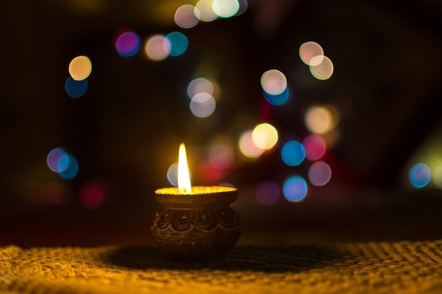 small Diwali candle