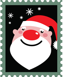 stamp with Santa's face