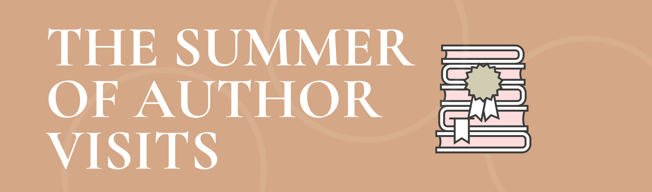 the summer of author visits