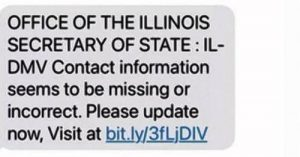 phishing text message example