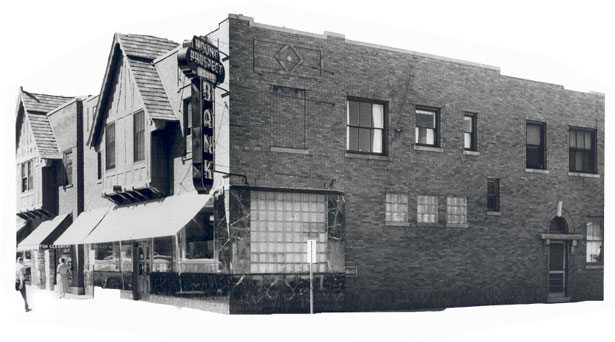 Black and White photo of a building in Mount Prospect