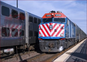 Metra Train at Mount Prospect Station