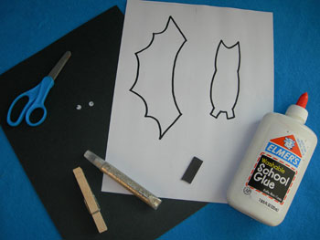 Spooky-Bat-Magnet craft supplies
