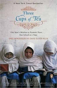 Three Cups of Tea: One Man's Mission to Fight Terrorism and Build Nations...One School at a Time book cover